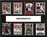 NFL Tampa Bay Buccaneers Men's Mike Evans 8-Card Plaque, Brown