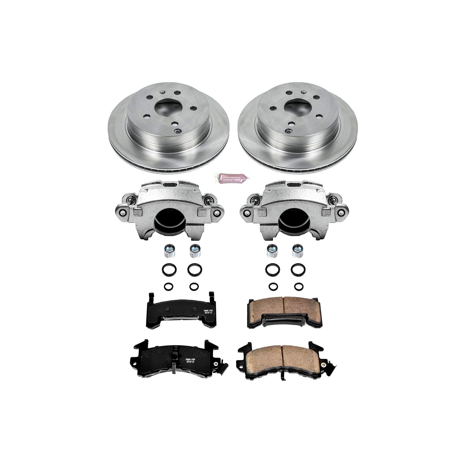 Power Stop KCOE1485 Autospecialty 1-Click OE Replacement Brake Kit with Calipers