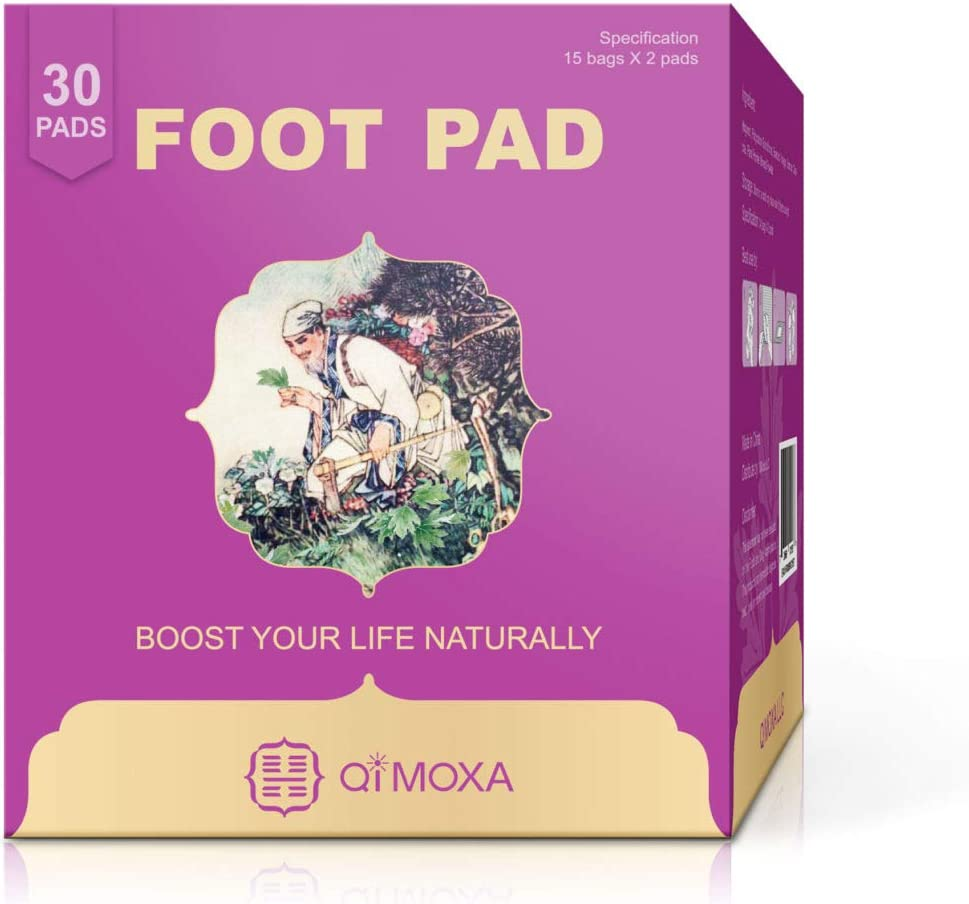 Qimoxa Detox Foot Pads-Unique Foot Pad to Improve Vital Energy-Free 50 Page Copyright Ebook of Our Detox Patch and More Ebooks for Chinese Healing Art-Take Care You from Feet to Body