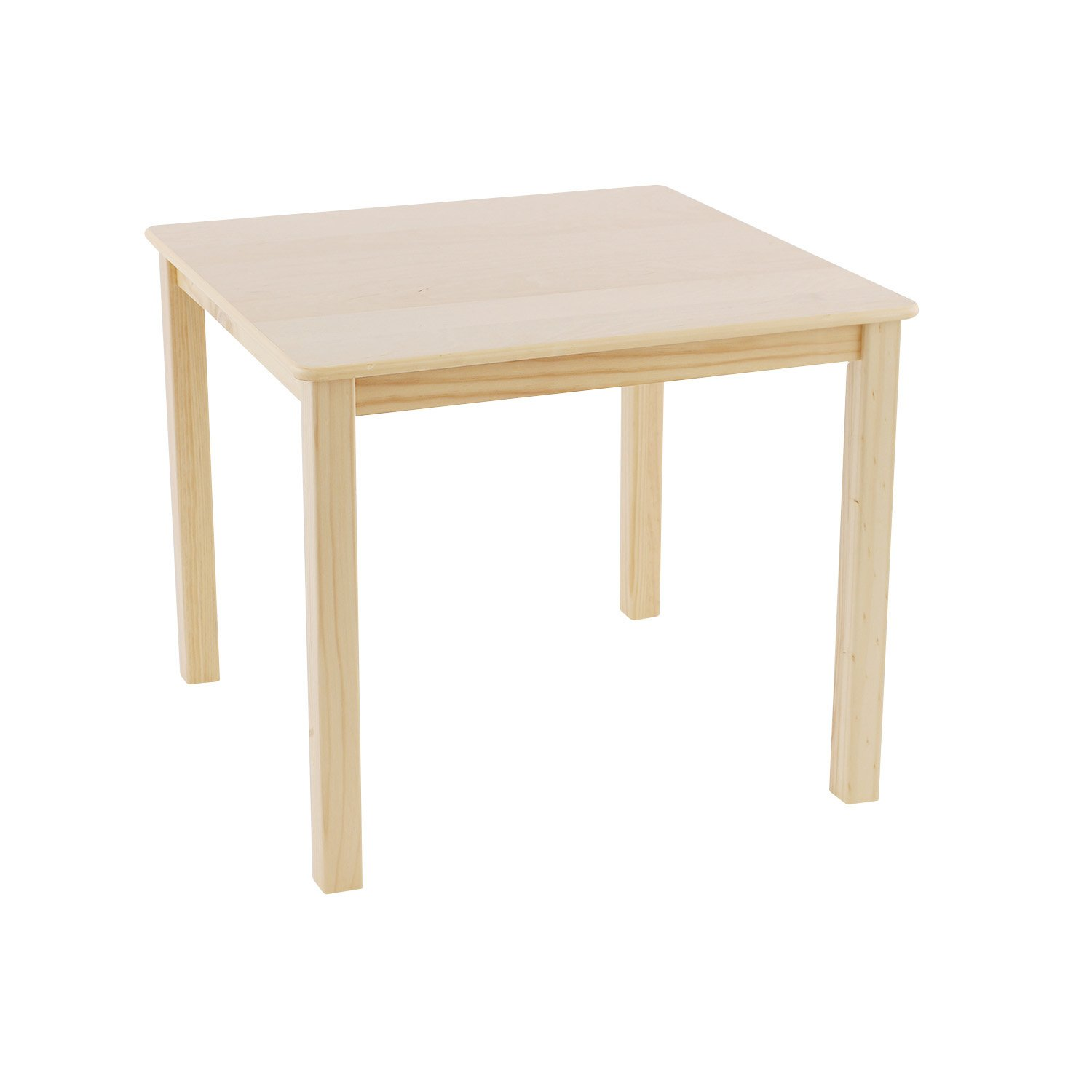 Max & Lily Natural Wood Kid and Toddler Square Table, Espresso 15-0350-005