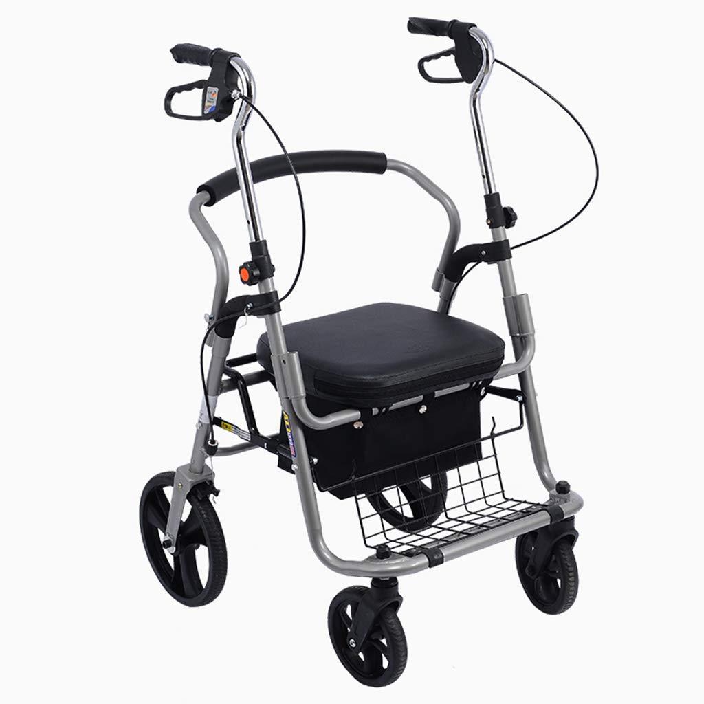 2019人気新作 歩行器 ウォーカーカート古いショッピングカートスポーツカー折りたたみ四輪歩行者小型プルカートベアリング重量100kgを取る老人のための最高の贈り物を与える (Color (Color : : B07M64TKNQ Black) Black B07M64TKNQ, SATO SHOES STUDIO:e6297cb2 --- a0267596.xsph.ru
