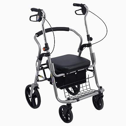 Silla de ruedas Rampas Andador Carro Carro De La Compra Más Viejo Coche Deportivo Plegable Puede