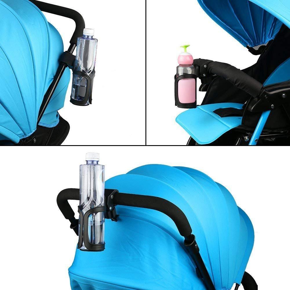Mountain Bikes Kinderwagen Getr/änkehalter schwarz 360/Grad Rotation Wasser Flasche K/äfige Anti-Rutsch f/ür Fahrrad Baby Kinderwagen und Rollstuhl