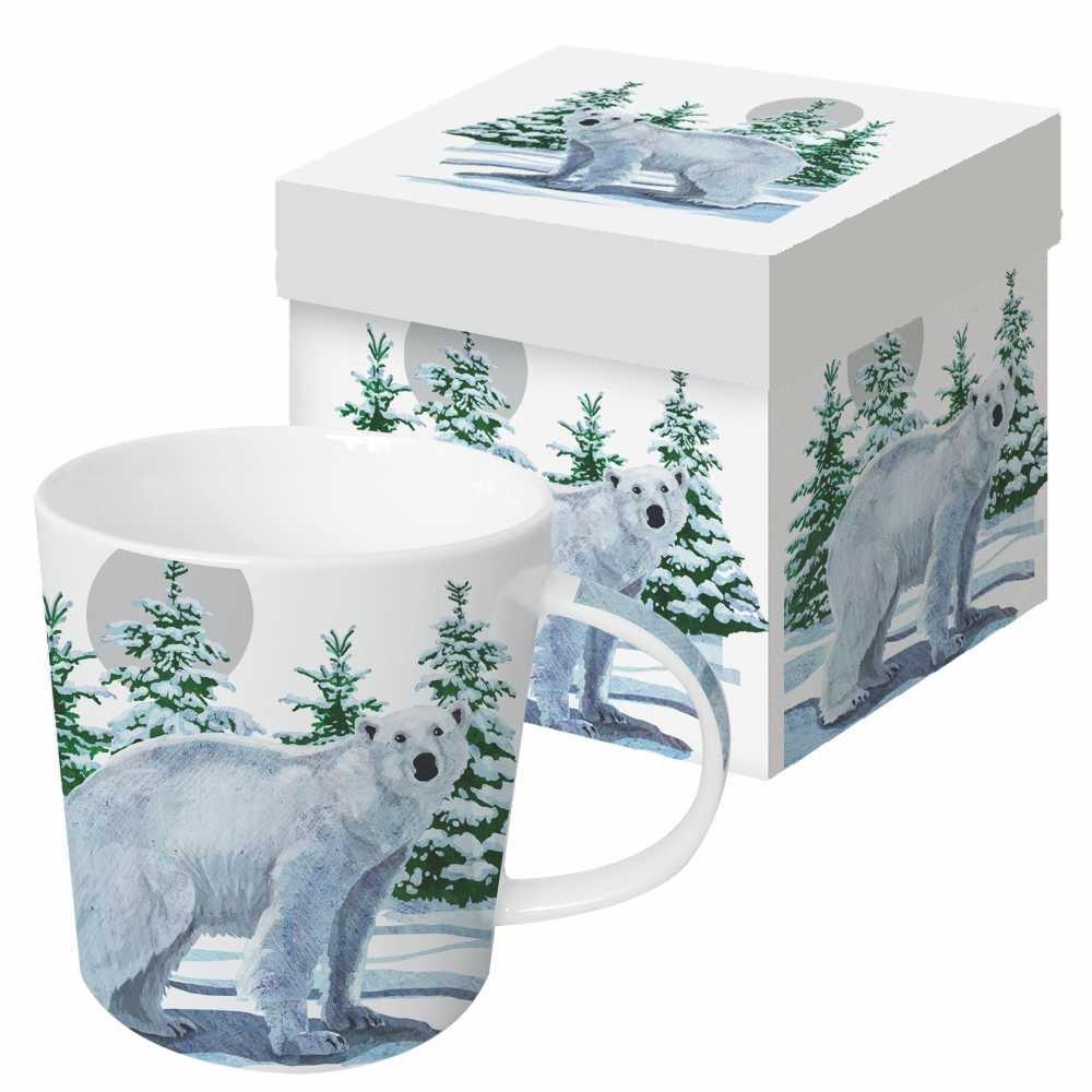 13.5 oz Paperproducts Design Gift Boxed Porcelain Mug Snow Bear Multicolor 602628