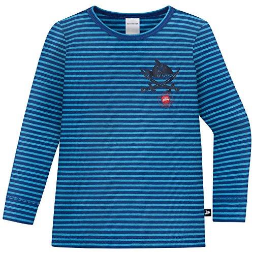 Schiesser Jungen Capt´N Sharky Unterhemd 1/1, Blau (Blau 800), 128