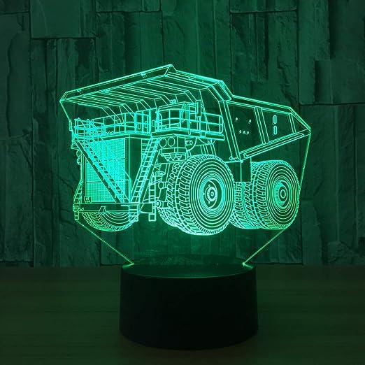 orangeww Nueva lámpara de mesa de luz nocturna 3d Juguete ...