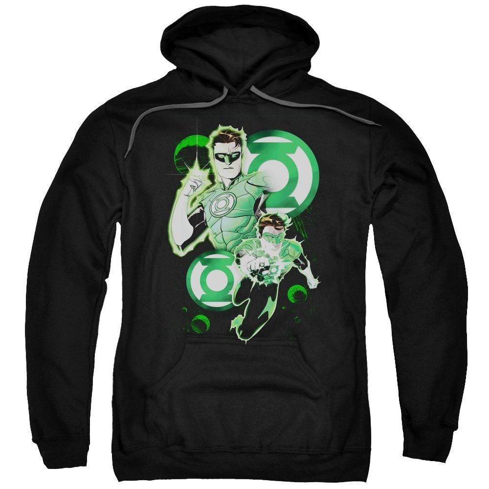Green Lantern In Action Adult Pull-over Hoodie