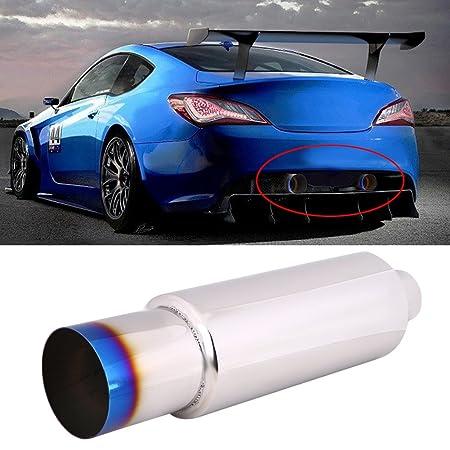 Punta del extremo del tubo del silenciador del escape del coche universal de 2.5 pulgadas: tubo de acero inoxidable de TipTail de la quemadura: Amazon.es: ...