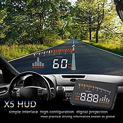 coche universal HUD Head Up Display de advertencia de l/ímite de velocidad Head Up Display for el coche coche HUD Display