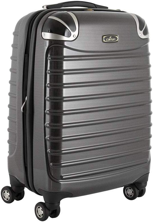 Ultra Durable Perfect Size and TSA Airport Approved. Caiman 21 Hard Shell Spinner Carry On Luggage