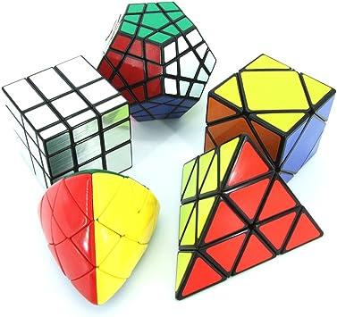 MZStech Magic Cube Puzzle Set aus Pyraminx, Meganminx, Skewb ...