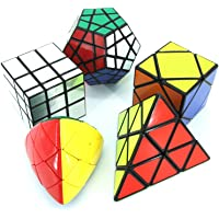 Wings of wind - Magic Cube of Irregualr Cubes, Smooth Skewb, Megaminx, Pyraminx, Silver Mirror, Mastermorphix Puzzle Cubes (Pack of 5)