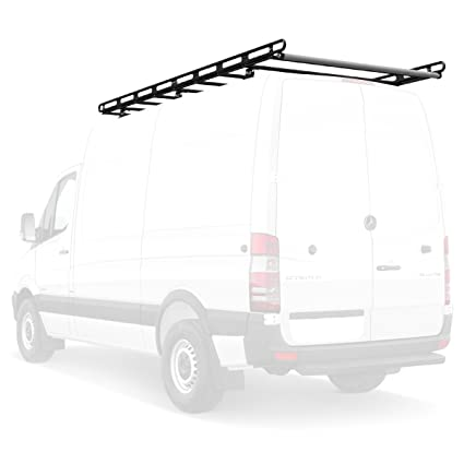 Vantech H2 Ladder Roof Rack 60u0026quot; Bars 141.75u0026quot; Cargo Rails For 07 On