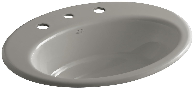 White KOHLER K-2907-8-0 Thoreau Self-Rimming Bathroom Sink