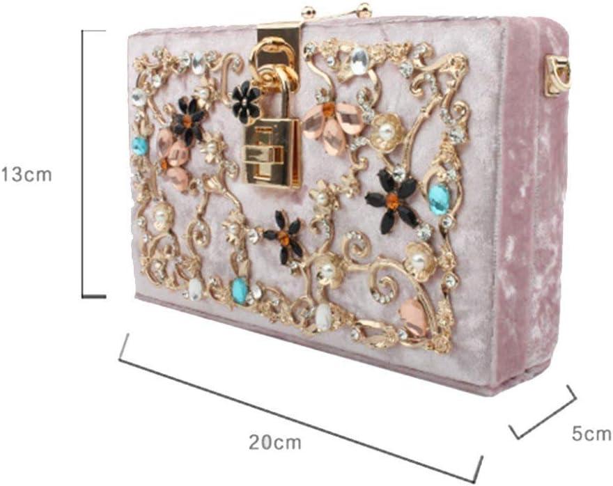 ZXWYB Cena Bag-Donne' Cristallo Scintillante Frizione Borsa Elegante Borse da Sera Acrilico for la Borsa da Festa di Nozze (Color : B) D