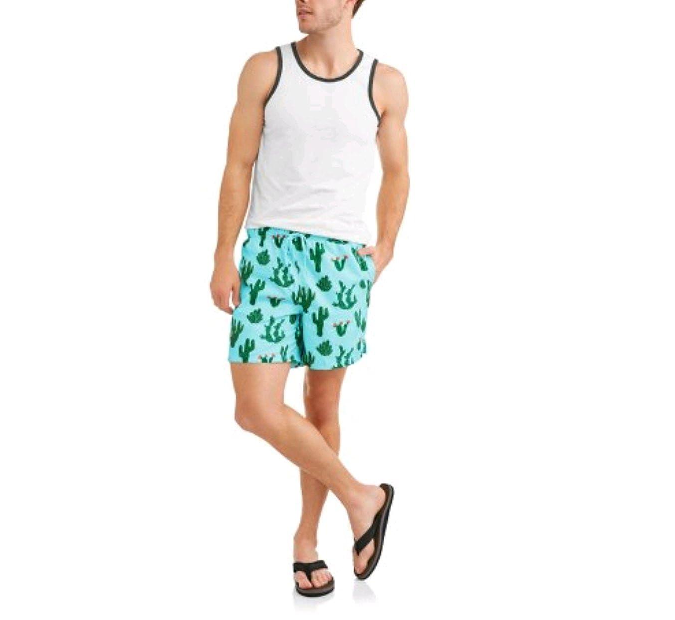 George Men's Cactus Print Swim Short Trunks