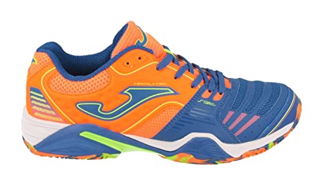 Zapatilla Joma Padel Set Royal-Naranja Fluor Clay