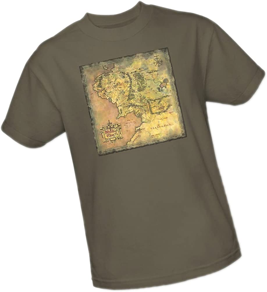 Middle Earth Map -- The Lord Of The Rings Adulto Camiseta, XXXL: Amazon.es: Ropa y accesorios