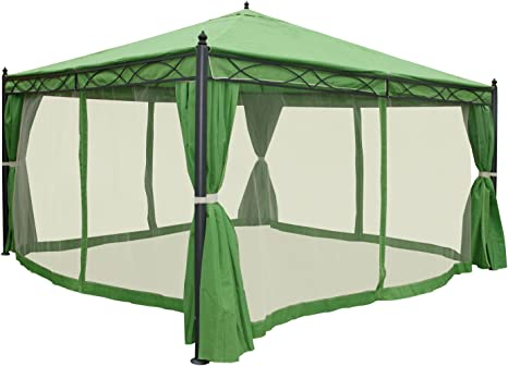 Pergola Cadiz, pabellón de jardín, marco estable de 7 cm con ...