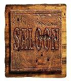 Chaoran 1 Fleece Blanket on Amazon Super Silky Soft All Season Super Plush Saloon Decor Collectionign board ofaloon on a Wooden Wall Restaurant Carving Art Countrytyle Print Fabric et