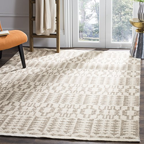 Safavieh KLM352A-5 Kilim Collection Premium Wool Area Rug, 5' x 8', ()
