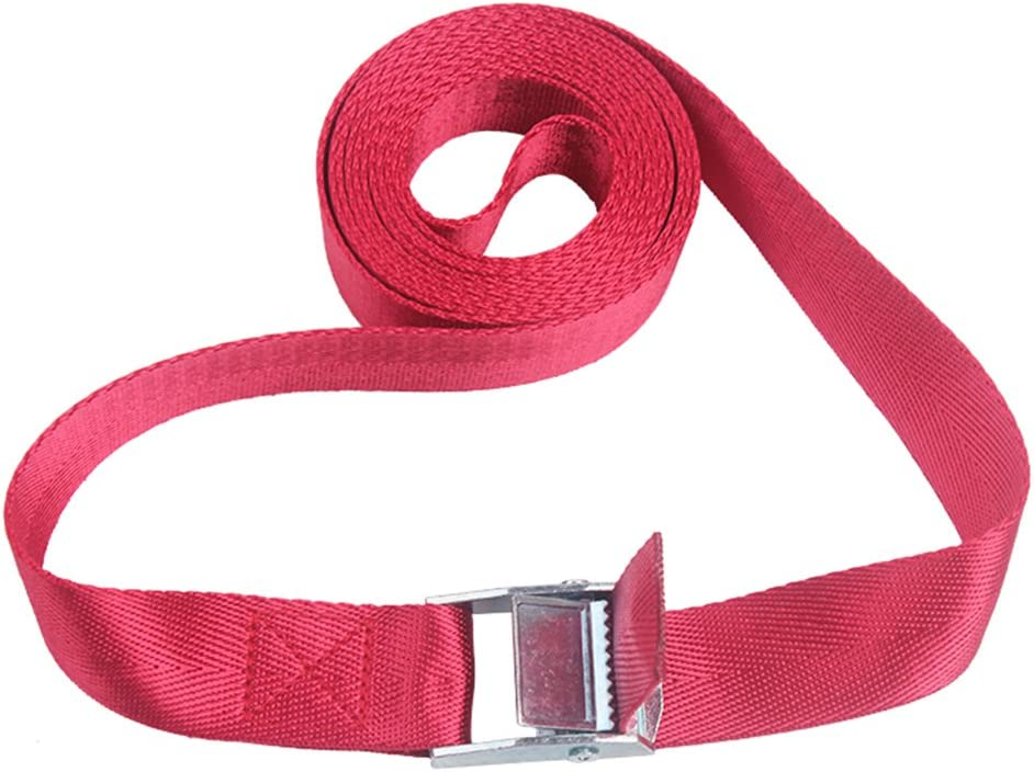 1m,Yellow Camping Luggage Tent Bind Band Tie-Down Cam Buckle Straps Lashing Strap with Metal Buckle or Cam Buckles Adjustable Nylon Pack Strap