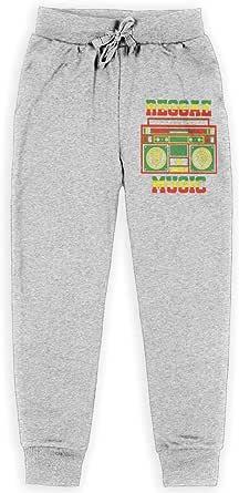 Yuanmeiju Reggae Music Rasta Boys Pantalones Deportivos,Pantalones Deportivos for Teens Boys Girls