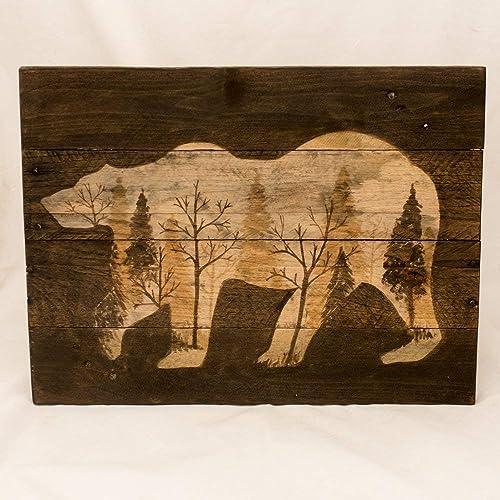 Amazoncom Log Cabin Art Rustic Wall Art Wood Wall Art New For Home