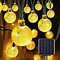 Kaerdun Solar String Lights 30 LED 20ft Crystal Ball Bubble String Light Solar Powered Fairy Lights for Home Garden Party Holiday Decoration