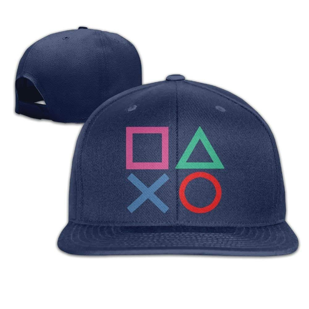 JTRVW Cowboy Hats WilliamKL Playstation Joypad Flat Bill Snapback Adjustable Ball Hat Black