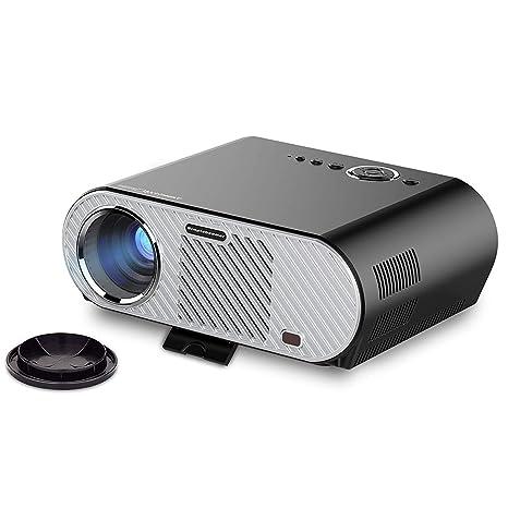TQTQ Clover Portable HD Multimedia Video Proyector 1280 X 720 Resolución Nativa Soporta 1080P para Cine