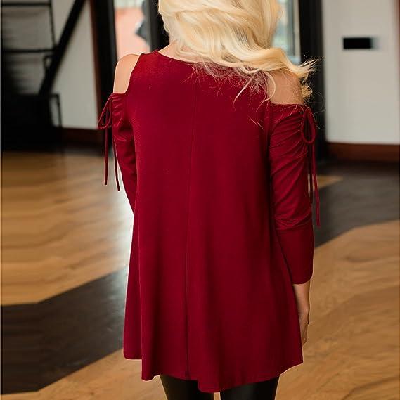 2018 Verano Camisas De Hombro Frío Blusas Tops del Batwing Camisetas sin Mangas Camiseta Casual Camiseta para Mujer Btruely Herren: Amazon.es: Ropa y ...