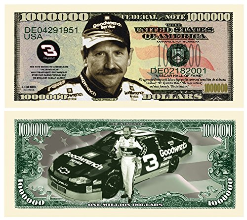 Dale Earnhardt Million Dollar Novelty Bill Collectible (Earnhardt Collectibles Dale)