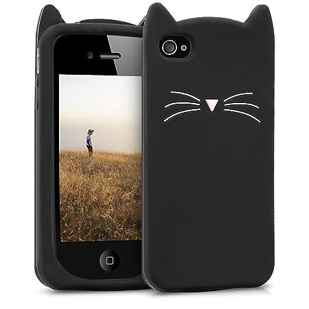 kwmobile Apple iPhone 4 / 4S Hülle - Handyhülle für Apple iPhone 4 / 4S - Handy Case in Schwarz Weiß