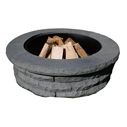 Merveilleux Amazon.com: Nantucket Pavers 72001 Concrete Ledgestone Fire Pit Kit,  47 1/4 Inch By 14 Inch, Gray (Discontinued By Manufacturer): Garden U0026  Outdoor