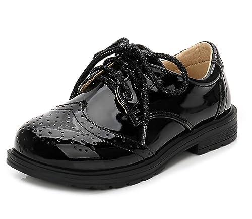 Amazon.com: Je-Gou - Zapatos de boxeo para niñas de piel con ...