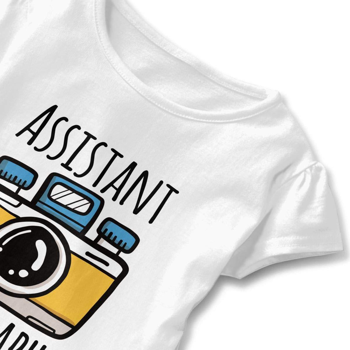 Cheng Jian Bo Assistant Photographer Toddler Girls T Shirt Kids Cotton Short Sleeve Ruffle Tee