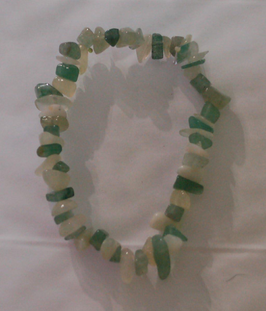 Aventurina y cristal de Jade Chip Bead pulsera de curación