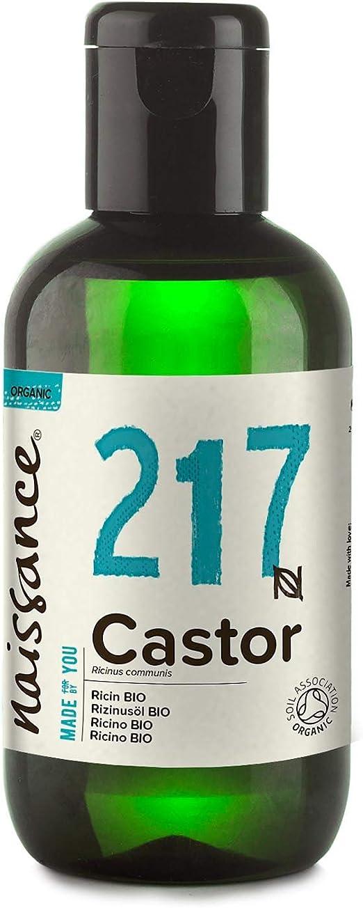 Naissance Aceite de Ricino BIO 100ml - Puro, natural, certificado ecológico, prensado en frío, vegano, sin hexano, no OGM - Hidrata y nutre el cabello, las cejas y las pestañas