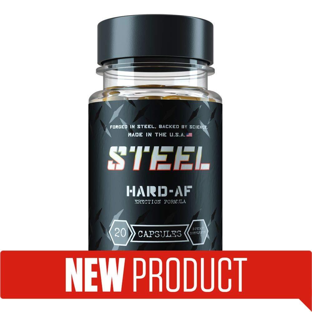 Steel Supplements Hard-AF | Increase Confidence, Stamina, Pleasure and Performance | Maca Powder, Byroviron, Kaempferia parviflora, KoreanRed Ginseng, yohimbine