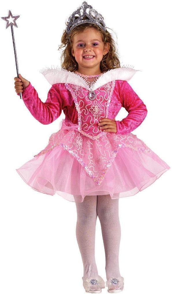 Costume Vestito Carnevale Bambina BELLA ADDORMENTATA Corto 1 2 3 4 5 6 7 Anni