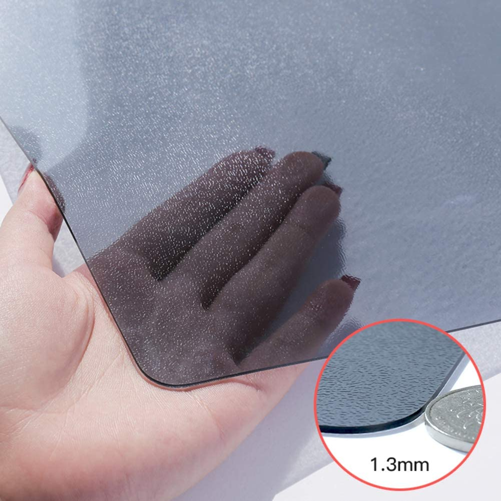 Negro PVC Protector De Mesa, Rectangular Helado Mantel Impermeable ...