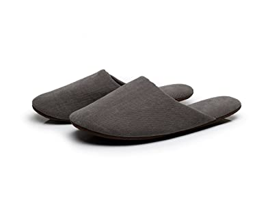 MOON Mens Cotton Indoor Slippers L Gray