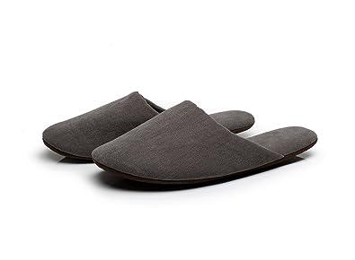 MOON Mens Cotton Indoor Slippers L Gray