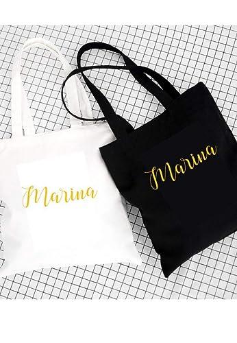 Bolso Tote bag en blanco o ngero. Regalo personalizado para ...