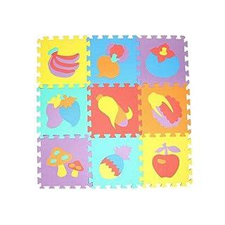 GUIGSI 10PZ Tappeto Puzzle Quadrati 30 x 30 CM per Bambini in in Soffice Schiuma EVA | Tappeto da Gioco | Tappetino Puzzle Numeri, Animali, Frutta, Veicoli
