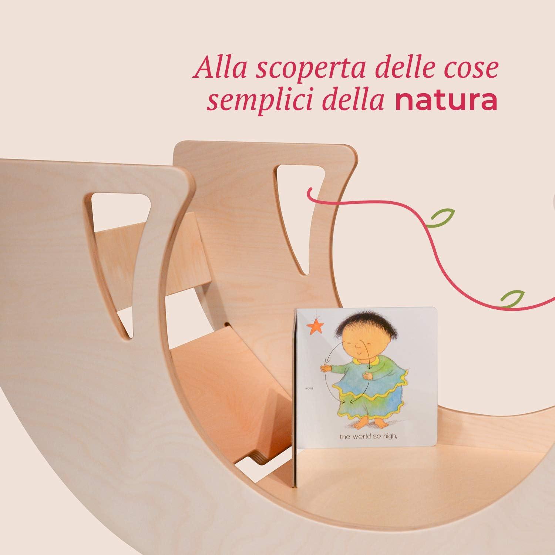 Tavolo Multifunzione Bambini Bianconiglio Kids /® DONDO Rocker Table Bi-Color Rocker Board e Ponte Pikler
