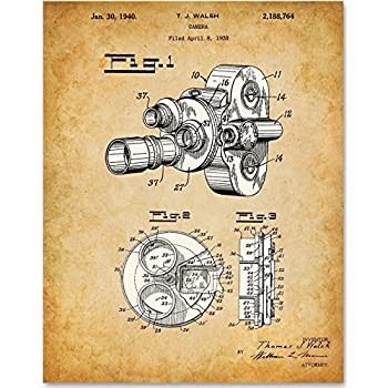 Amazon.com: Home Theater Patent Wall Art Prints - Set of Six Vintage ...