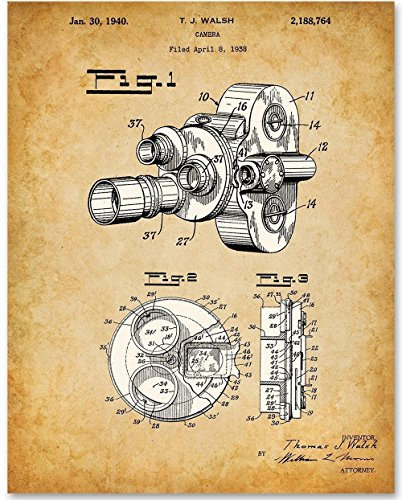 Film Movie Motion Picture Camera - 11x14 Unframed Patent Print - Great Gift for Home Theater Decor