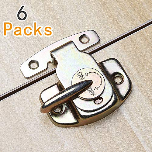 6 Sets of Align-N-Lock Table Locks, Abuff Heavy Duty Dining Training Table Buckles Connectors Great for Table Leaf, Extension Tables, Computer Workstations and Conference Tables ()